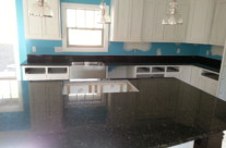 Verde Butterfly Granite Kitchen