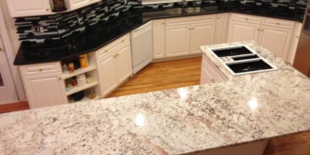 Aspen White Granite Kitchen Countertop